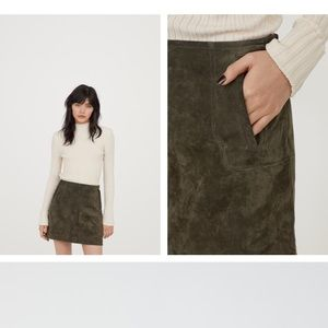 H&M size 12 suede skirt
